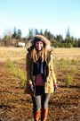 Brown-riding-boots-sole-society-boots-bronze-parka-old-navy-coat