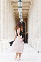 beige midi Aritzia skirt
