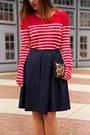 Red-striped-forever-21-shirt-tawny-leopard-print-club-monaco-bag