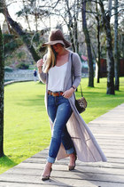 neutral long cardigan Subtle Luxury sweater