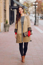 camel trench Club Monaco coat - black Boutique Onze dress