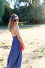 Blue-apron-aritzia-dress-red-clutch-mary-nichols-bag