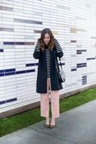 light pink trousers vintage pants - black menswear OAK  FORT coat