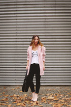 light pink pastel Penneys coat - light pink ankle boots Zara boots