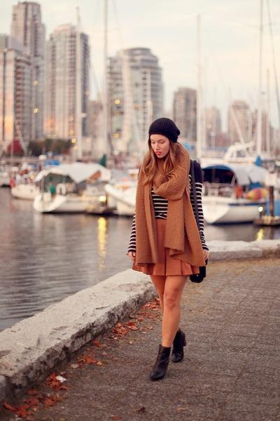 black beanie H&M hat - bronze knit Zara scarf - black 31 Phillip Lim bag