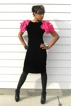 black Victor Costa for Bergdorf Goodman dress