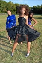 black vintage thrifted dress - blue vintage thrifted dress - purple vintage thri