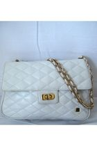 white Balmain purse