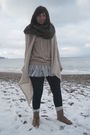 Brown-h-m-scarf-beige-topshop-sweater-topshop-jeans-beige-topshop-boots