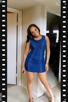 blue bodycon dress Forever 21 dress