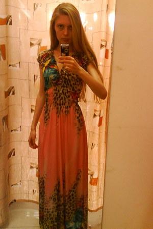 coral Maria Moro dress