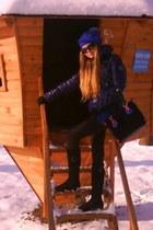 bag - black VFabbiano bag - blue Yavorsky hat - navy Eight Sin jacket