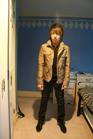 Zara jacket - JLindeberg shirt - acne jeans - Surface 2 Air shoes - Stars and Pe