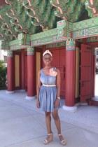 light blue H & M dress - peach H & M accessories