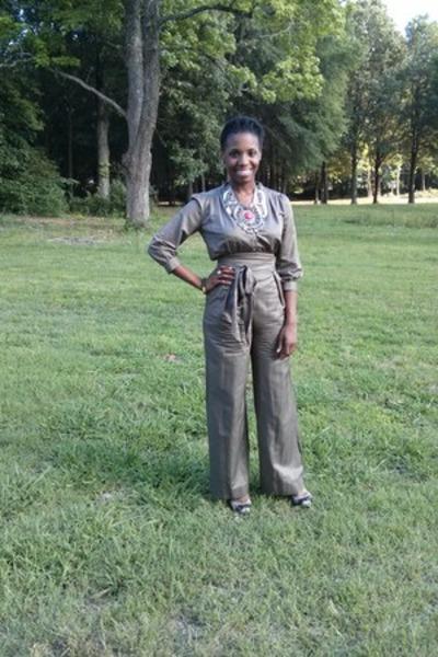 dark brown Bakers shoes - silver H&M necklace - light brown Topshop jumper