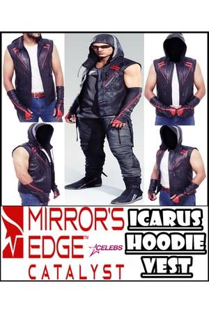 real leather Top Celebs Jackets vest