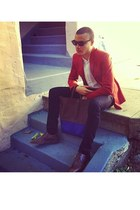 Celine bag - Zara blazer - Yves Saint Laurent shirt - Celine sunglasses