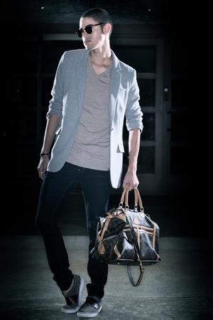 blazer - t-shirt - jeans - accessories