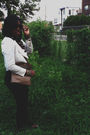 Black-american-apparel-pants-forever-21-shirt-white-urban-outfitters-jacket-
