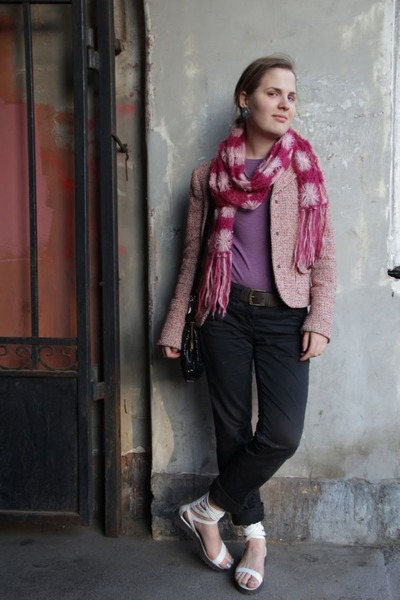 Max and Co scarf - Tom Tailor jeans - Max and Co jacket