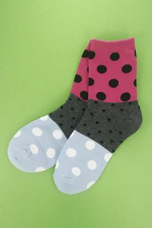 hot pink polka dot socks TPRBT socks