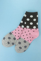 navy polka dot socks TPRBT socks