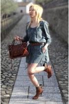 leather killah boots - cotton Pimkie dress - leather balenciaga bag