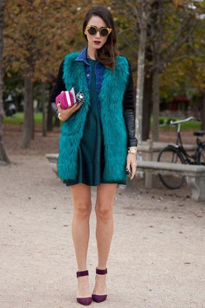turquoise blue coat