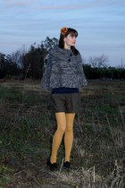 mustard nylon free people tights - black oxfords 9 & co shoes
