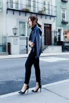 black Joe Fresh pants - navy asos jacket