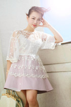 LV bag - Zara top - American Apparel skirt