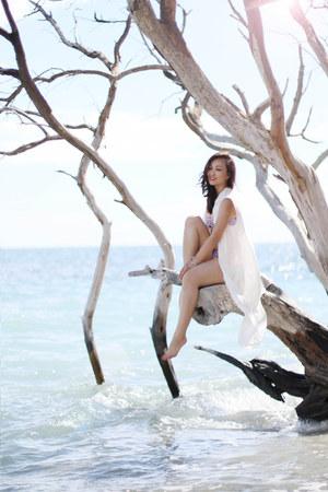 white Alexander Wang dress - light purple Forever 21 bra