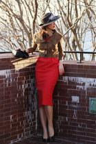 modcloth dress - Cartier bag