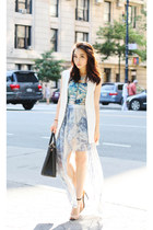 Zara blazer - Prada bag - Urban Outfitters skirt - Zara heels