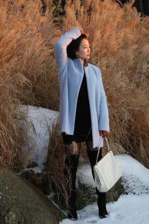 Zara coat - Zara sweater - Jason Wu bag