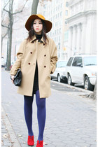 Comptoir des Cotonniers coat - Cartier bag - Rebecca Minkoff heels
