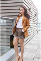 Zara blazer - Zara shorts - asos heels