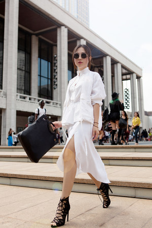 Cartier bag - Zara skirt - Armani Exchange top