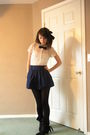 Blue-forever-21-skirt-white-blouse-black-forever-21-tights