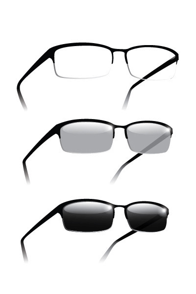 white lenses only Transitions Lenses sunglasses
