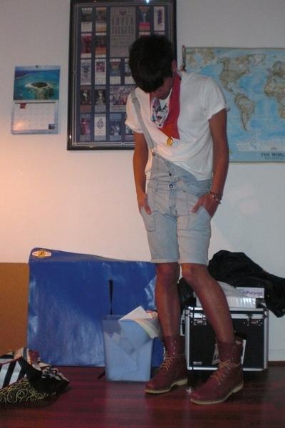 scarf - shirt - Ksubi jeans - Justin boots