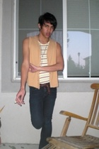 American Apparel vest - BDG top - vintage belt - vintage accessories - Pac Sun p