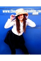 Outback Trading Company hat - American Eagle blouse - forever 21 skirt - forever