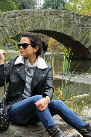 Forever 21 jacket - Ray Ban sunglasses
