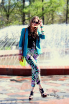 Topshop pants - River Island jacket - Galleries Laffayette bag - Topshop wedges
