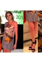 Mary Katrantzou dress - black Gucci heels