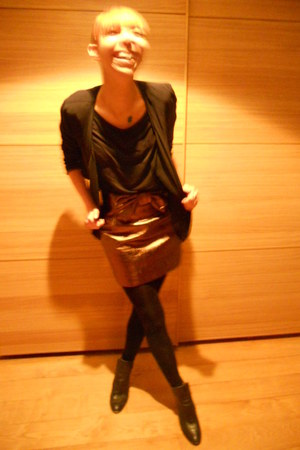 Opera shoes - H&M jacket - H&M skirt - H&M blouse