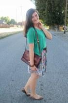 dark brown thrifted vintage bag - silver Sugarlips dress