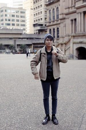 vintage jacket - Dr martens vintage shoes - acne jeans - Topman hat