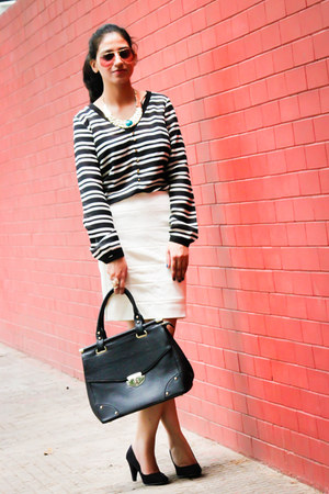 Zara shirt - dune bag - Ray Ban sunglasses - Forever New skirt